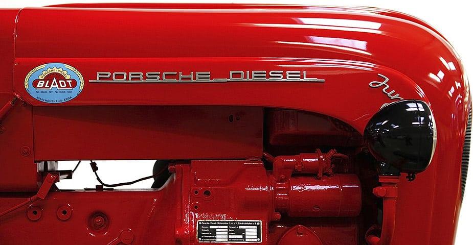 Red Porsche Diesel