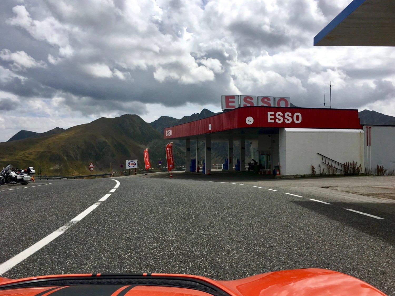 Esso gas station on top of El Pas de la Casa