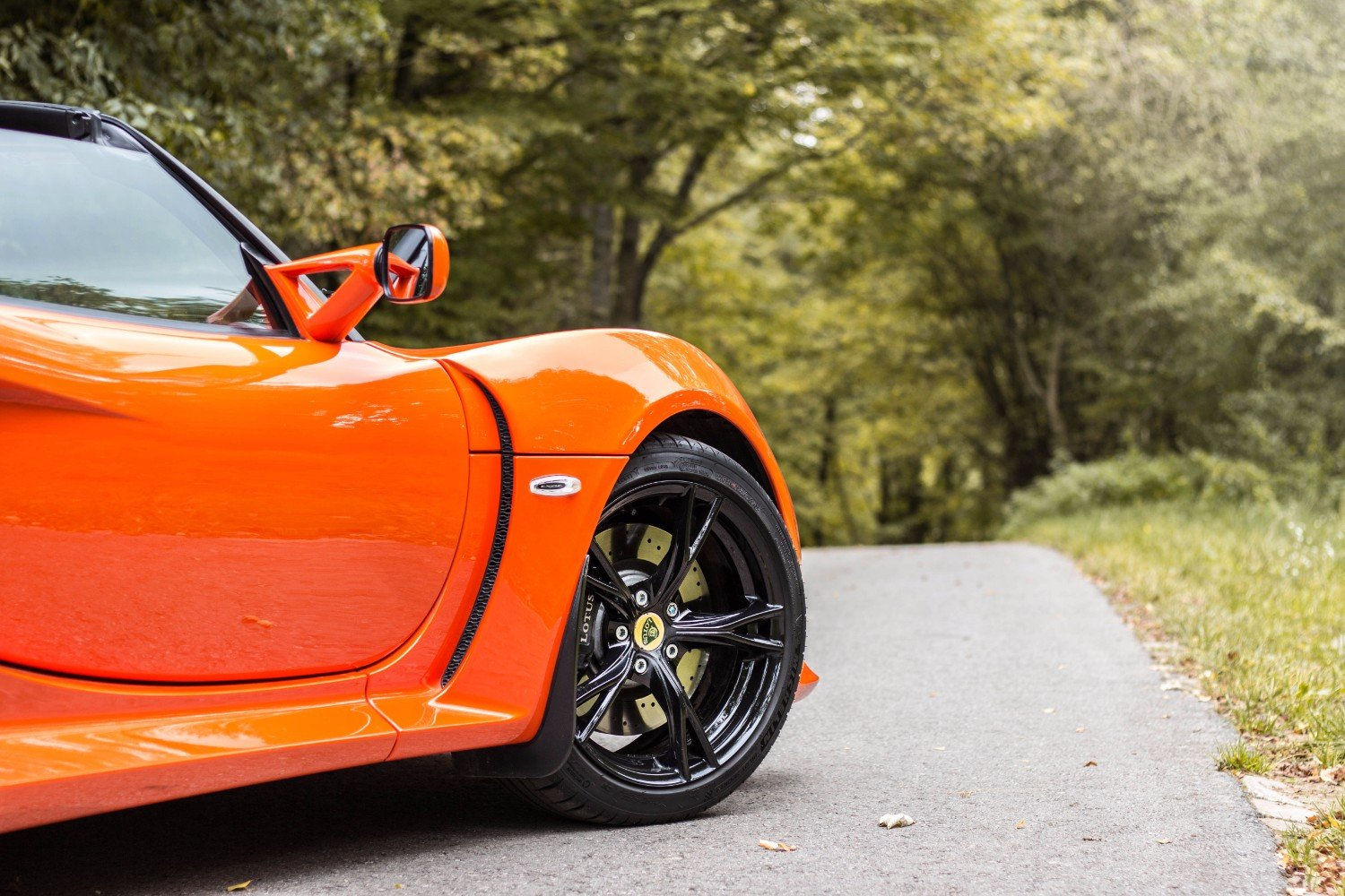 Lotus Exige S Roadster in the woods