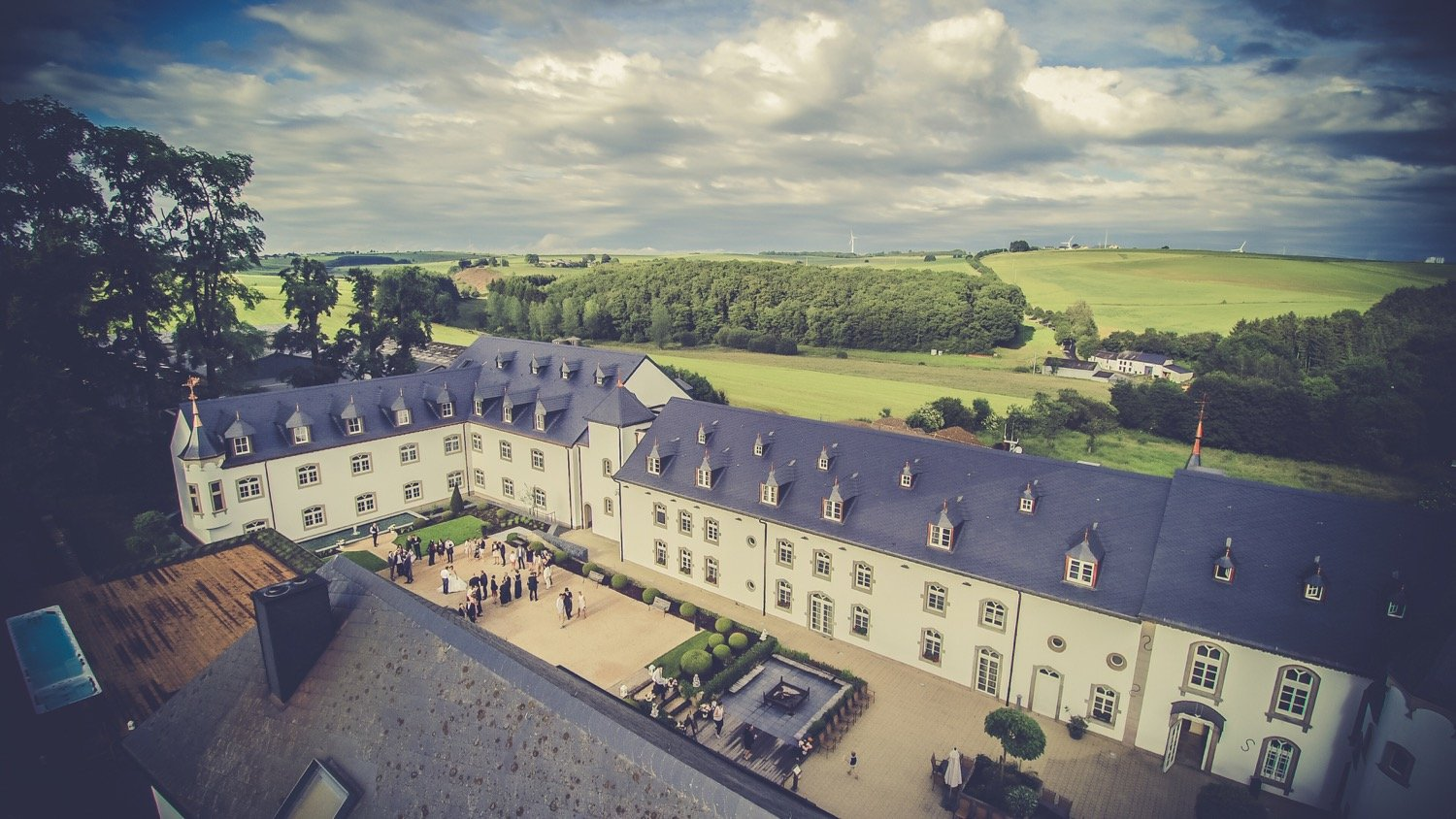 Chateau Urspelt - aerial view