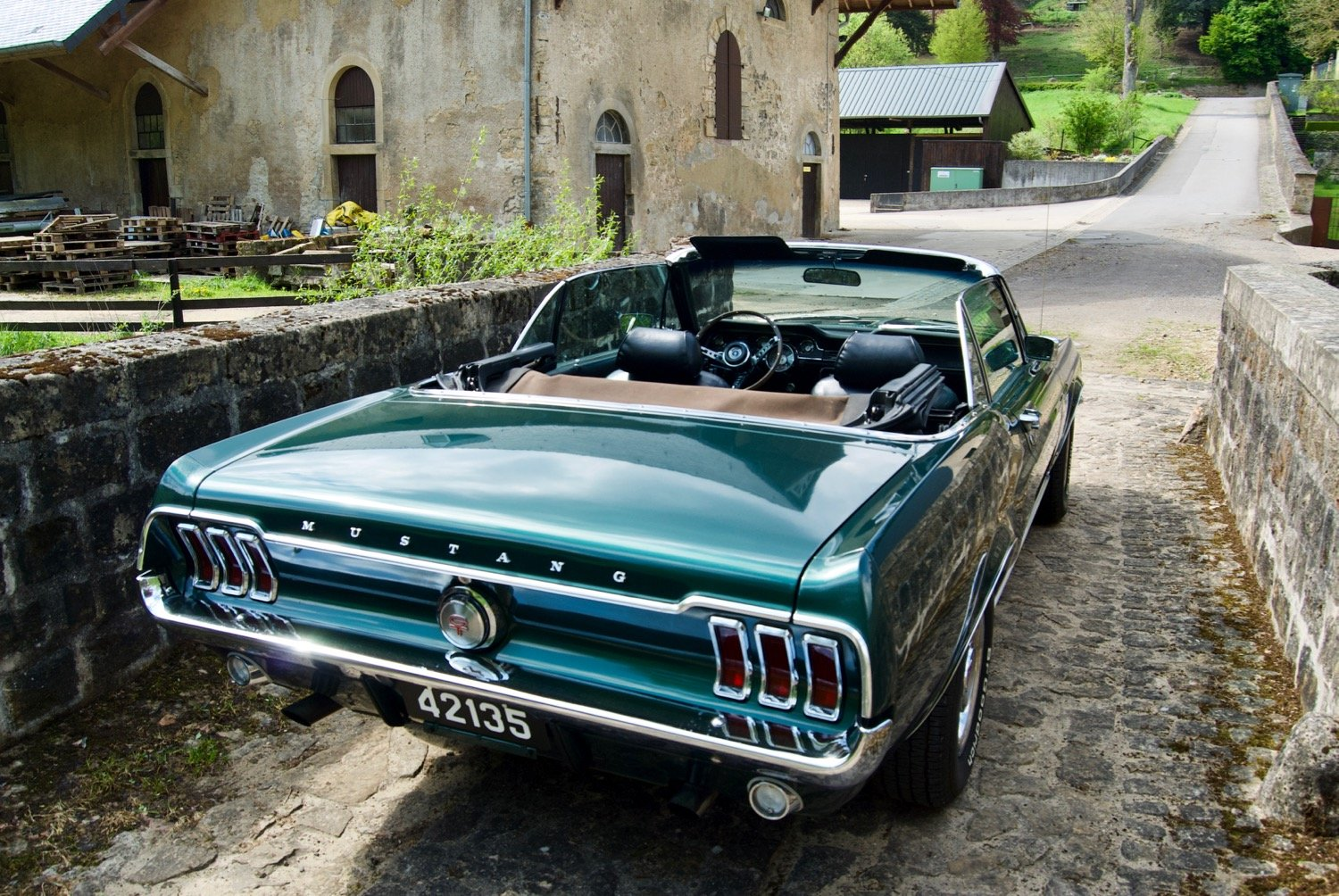 Tilly - 1967 Ford Mustang Convertible V8 - rear on bridge