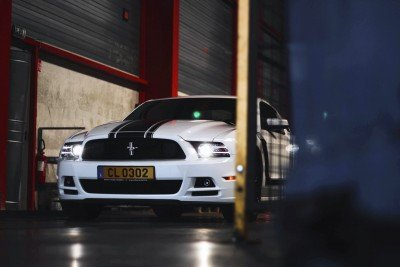 Crystal - 2013 Ford Mustang Boss 302 in the dark