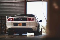 Crystal - 2013 Ford Mustang Boss 302 - rear in front of door