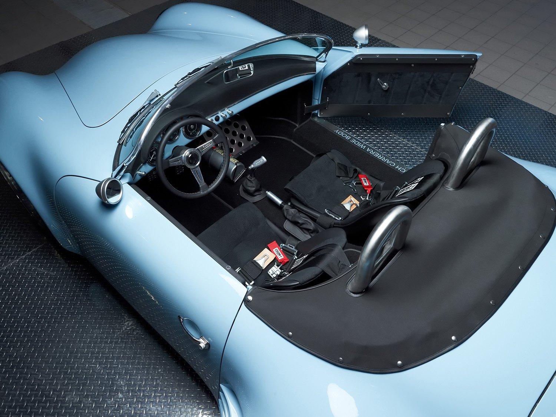 RCH 356 Wide Body blue top interior