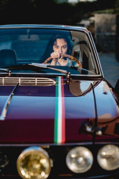 Alessia - 1973 Lancia Fulvia 1.3S Coupe |Model Alessia Raschella |Photo by Hervé Wirtz (http://www.hwportraits.eu)